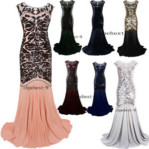 1920S Bridesmaid Dresses | Prom Gown 1920s Flapper Dress Party Long Evening Great Gatsby