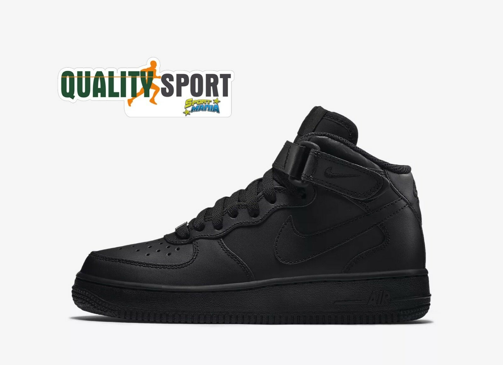 Nike Donna Air Force 1 Mid Nero Scarpe Shoes Ragazzo Donna Nike Sneakers 314195 004 2018 7de163