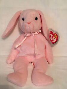 TY Beanie Baby - HOPPITY the Rabbit - With Tags- PE Pellets -Misprint