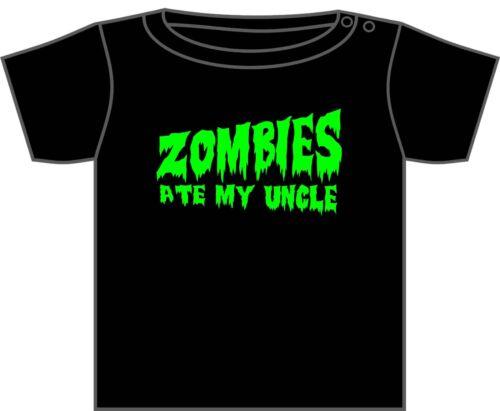 Walking dead zombie T-shirt zombies mangé mon papa asst designs 0-6 ans Nouveau