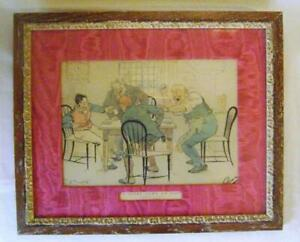 Fine-Vintage-Limed-Oak-Picture-Frame-with-Baxter-Pears-Print-Game-of-Nap-2