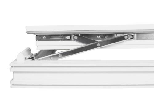 Premium Kellerfenster Fenster 2 Fach BxH 970x1050 mm Dreh-Kipp Weiß