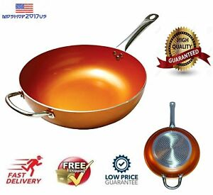 Copper 12 Quot Chef Nonstick Fry Pan Frying Skillet Ceramic