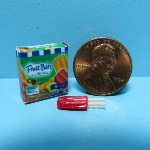 Dollhouse Miniature Detailed Replica Box Popsicle Fruit Bars and a Popsicle G063