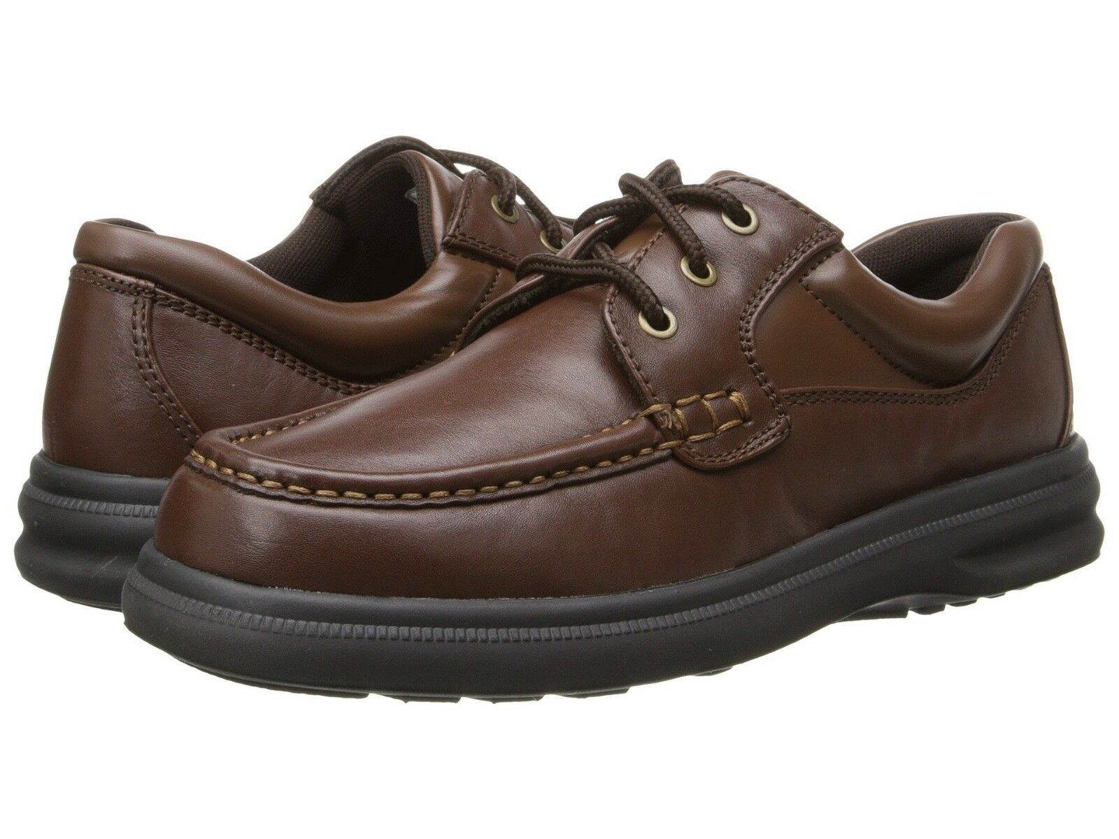 Hush Puppies Gus 18772 Tan Leather Super Comfort Men Shoes - WIDE Width