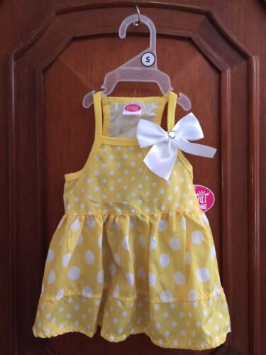 """Glamour to the Bone/"""" YELLOW /&  MANY WHITE DOTS/"""" /&  White Bow w//Bling  Small"""