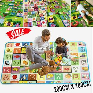 Ninos-arrastrarse-Suave-Espuma-2-lado-juego-educativo-jugar-Mat-Picnic-alfombra-200X180CM