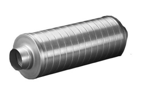 Systemair Schalldämpfer L 900mm D 315mm für Growraum Grow AKF ABlauft Rohrlüfter