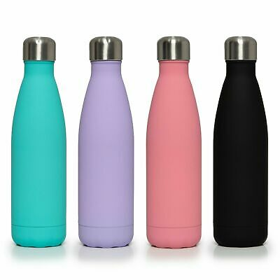Stainless Steel Water Bottle Insulated Metal Sport Gym Drink Flask 500ml-1000ml