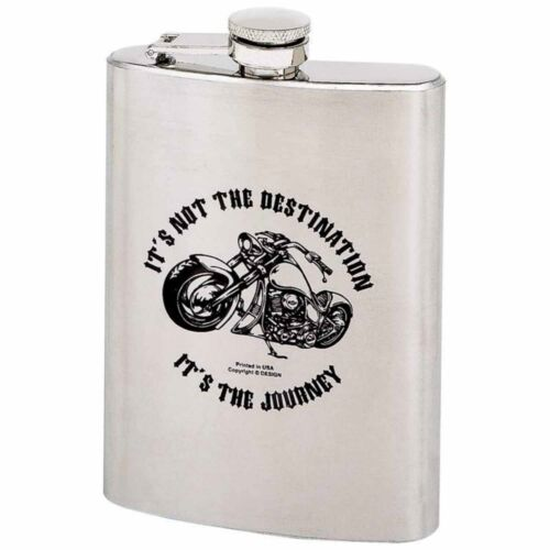 8oz Stainless Steel Flask IT/'S NOT THE DESTINATION Logo KTFLASK8ND $24