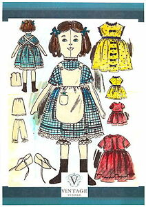 Victorian-Rag-Doll-amp-Clothes-sewing-patterns-Vintage-style-2-sizes-16-034-amp-8-034-tall