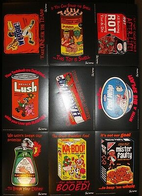 2011 Wacky Packages OLDS2 Old School 2 Giant 5x7 9 Card Jay Lynch Sticker Set