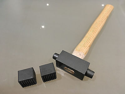 Stone Mason/'s//Carver/'s 35mm x 35mm Double Ended Bouchard Hammer Replaceable Ends