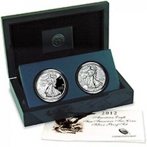 2018-2017Silver-Eagle-Set-With-Packaging-2-Coins-No-2012-Coins-Comes-With-18-17