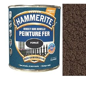 PEINTURE-HAMMERITE-ANTIROUILLE-MARTELE-MARRON-CHATAIGN-direct-sur-rouille-0-75L