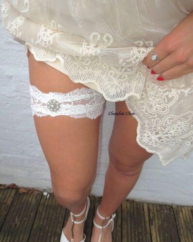 Ivory Lace Pearl Diamond Leg Garter Harness Choochie Choo Hippy Boho Bride Bride