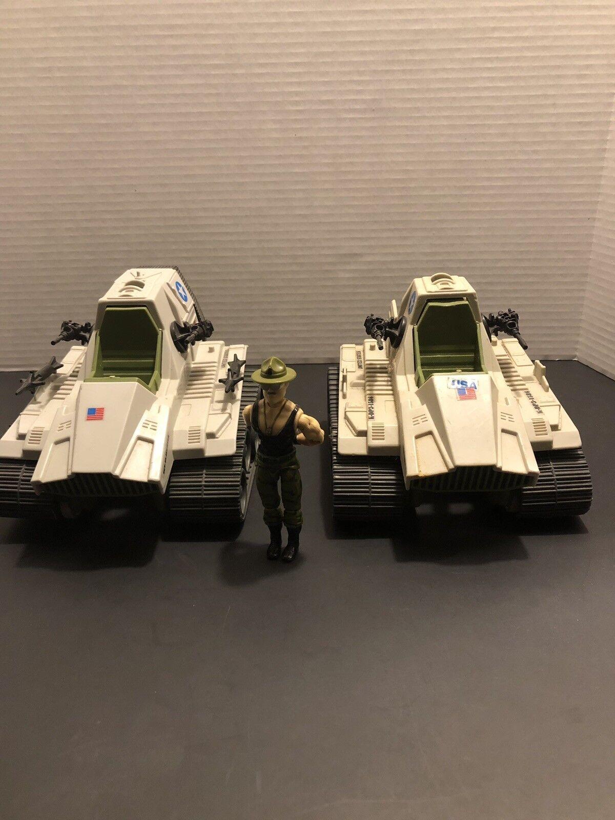 Gi Joe Sgt Slaughter With 2 Triple T Tanks  1986
