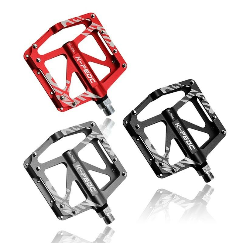 Bicycle Pedals  Mountain Road Bike Flat 16 Pins Aluminum Alloy Sealed 3 Bearings
