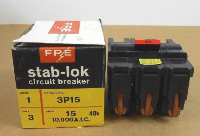 NEW FPE federal pacific breaker 15 amp 15a 3 pole na315 na na3p15
