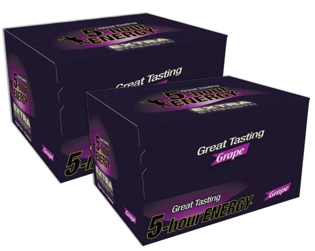5-Hour Energy Extra Strength Nutritional Drink, Grape, 1.93 oz, 24 Count