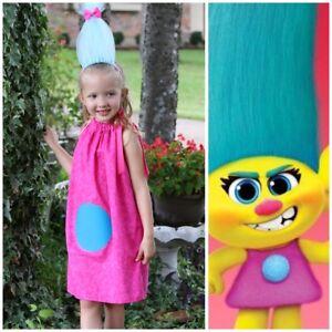Smidge Trolls Dress Birthday Party Halloween Costume Cosplay