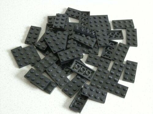 Lego 3020  #  45x Basic flach Plättchen Platten 2x4 schwarz 4558 10001 10027