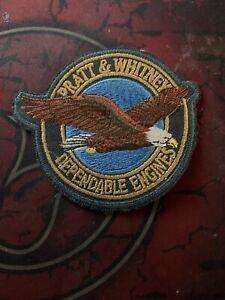 Pratt-amp-Whitney-P-amp-W-Vintage-Iron-on-Dependable-Engines-Patch-with-Eagle-Logo