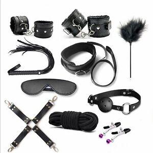 10PCS-Adult-Toy-Bondage-SM-Tool-Plush-quality-kit-Love-restraints-BDSM-Set