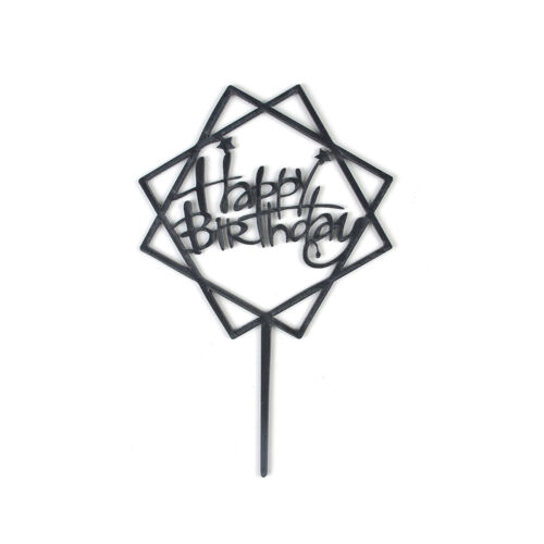 Cake Happy Birthday Cake Topper Card Acrylic Cake Party Decoration Supplies Xmas