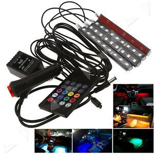 4pcs-Remote-Music-Control-RGB-LED-Car-Interior-Atmosphere-Glow-Light-Strip-Lamp