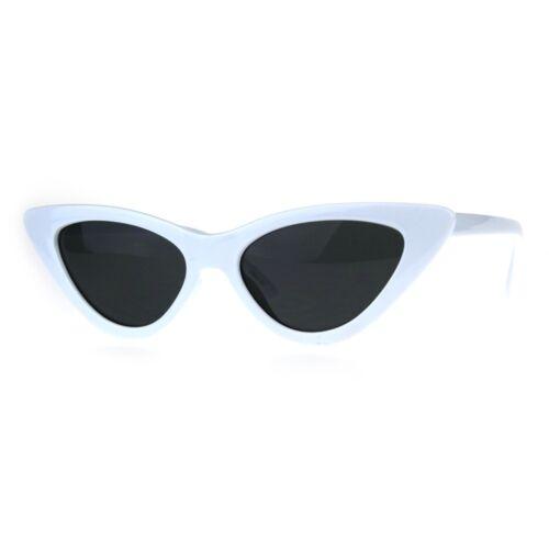 Femme Classique étroit Oeil de Chat Gothique Lunettes de soleil en plastique