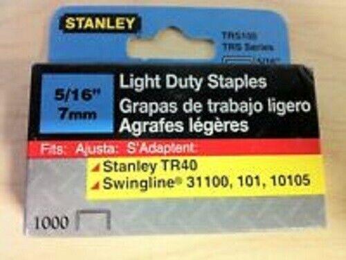 """Stanley 5//16/"""" TRS105 Light Duty Staples 1000 ct Pack"""
