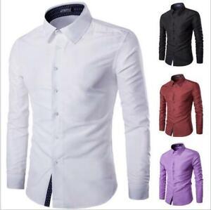 New-Fashion-Men-s-Luxury-Casual-Stylish-Slim-Fit-Long-Sleeve-Casual-Dress-Shirts
