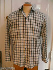 Robert Graham Black & White Plaid French Cuff Dress Shirt Size 39 15 1/2 M