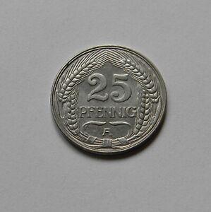 Imperio: 25 Peniques 1910A, J. 18 ,Fast sin Circulación, Raro