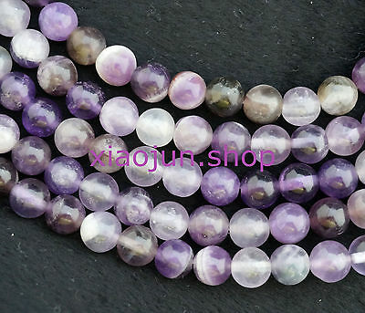 """8mm Natural Russican Amethyst Round Gemstone Loose Beads 15"""""""