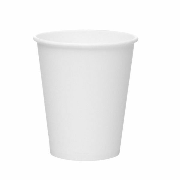 1000 x 8oz Weiß Paper Cup Single Wall Disposable Tea Coffee Cappuccino Espresso