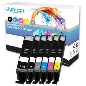6-cartouches-d-039-encre-Jumao-compatibles-pour-Canon-Pixma-TS8050-8051-8052-8053