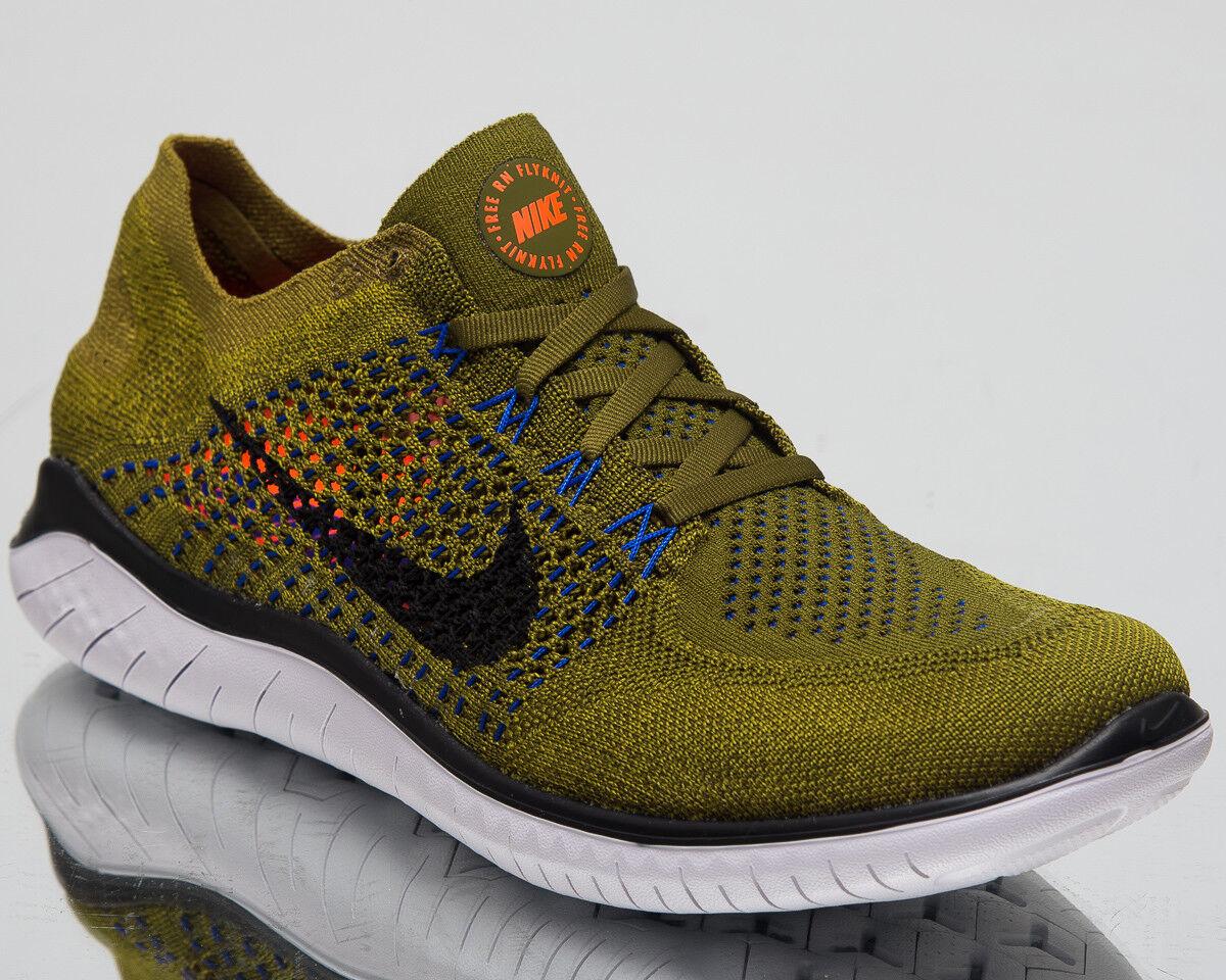 Nike Free RN Flyknit 2018 Men Running shoes Olive Flak Black Sneakers 942838-302