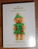 Hallmark O Teddy Bear Christmas Ornament 2009 Bear Christmas Tree