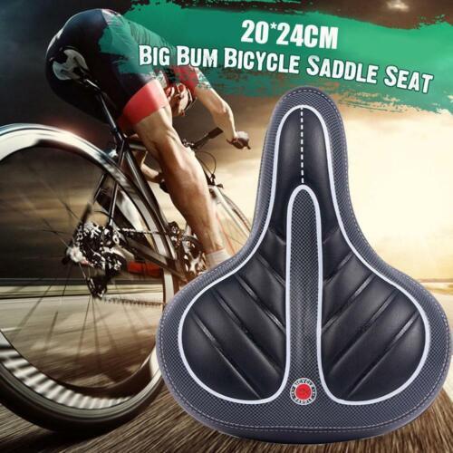 Comfort Wide Big Bum Bicycle Gel Cruiser Extra Sporty Soft Pad Saddle Seat