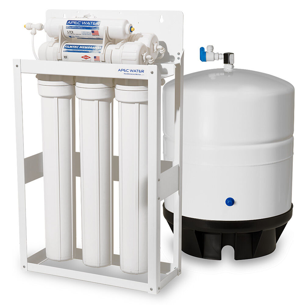 APEC 360 GPD Light Commercial Reverse Osmosis Water Filter System with 14G Tank