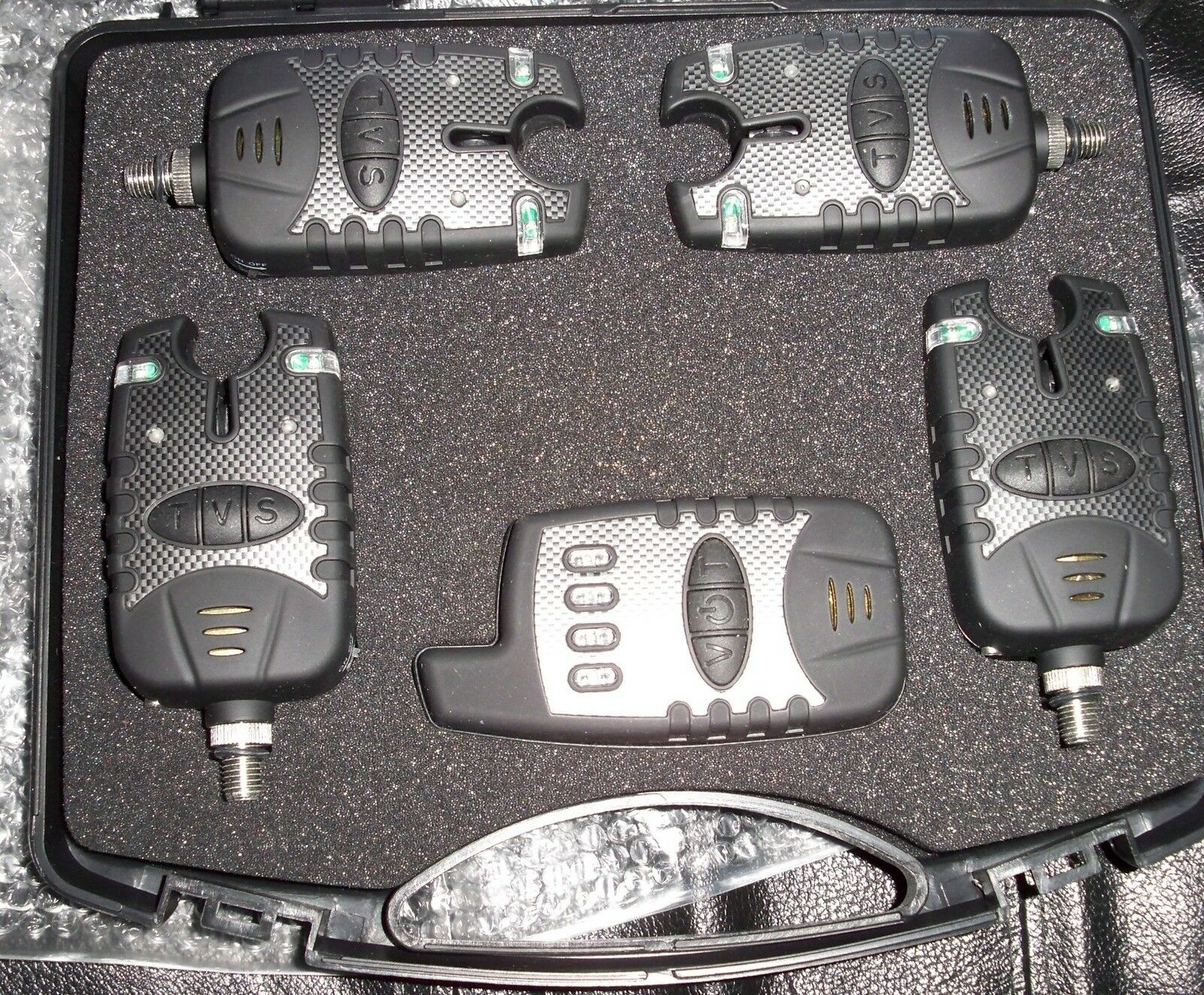 KFS Funkbissanzeiger 4+1  Ampel Set Carpfishing