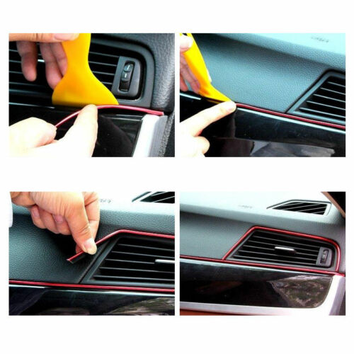 Red Edge Line Interior Point Molding Accessory Garnish 5M for Universal Car
