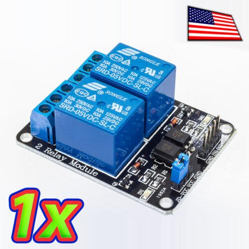 2 Channel 250V 10A Relay Module Board and Shield AC DC Arduino Raspberry PI 1x