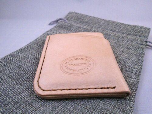 Minimal front pocket Handmade leather credit card holder
