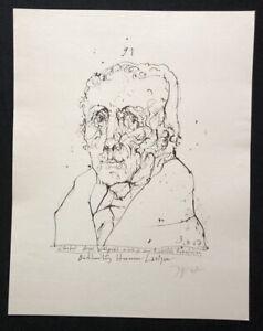 Horst-Janssen-Christoph-August-Vulpius-Lithographie-1967-handsigniert