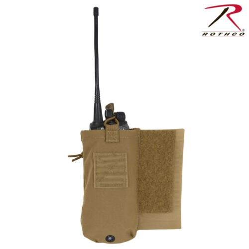 Vest Accessory in Black orCoyote Rothco LACV Side Radio Pouch Set