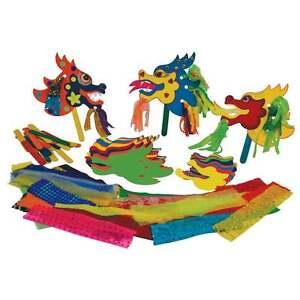 30-X-3D-Drache-Modell-Klassenzimmer-Schule-Basteln-Stosstange-Activity-Pack-Myo