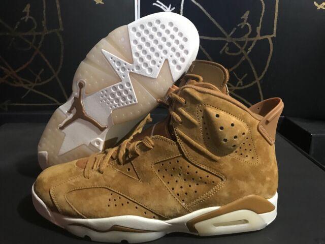 916c7ca29920 Nike Air Jordan 6 Retro VI Size 11 Golden Harvest Flax Wheat 384664 ...